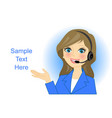 call center woman vector image