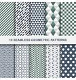 10 geometric seamless patterns vector image