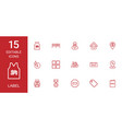 15 label icons vector image vector image