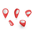 3d pointer red vector image vector image