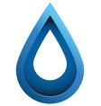3d water drop vector image