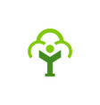 abstract tree nature letter y logo icon vector image