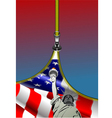 al 0749 zipper usa flag vector image vector image