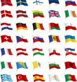 all European flags vector image vector image