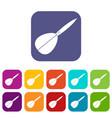 arrow to play dart icons set flat vector image vector image