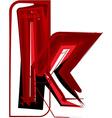 Artistic font letter k vector image vector image