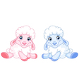 baby sheep vector image vector image