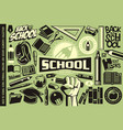 back to school set icons logos symbols vector image
