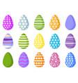 big set color easter eggs vector image