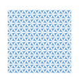 blue flower of life sacred geometric background vector image vector image