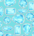 blue Sapphire saturated color seamless pattern vector image vector image