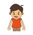 boy smiling cartoon vector image vector image