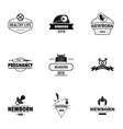 brought logo set simple style vector image vector image