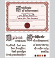 brown certificate template guilloche horizontal vector image vector image