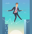businessman balancing concept picture of happy vector image