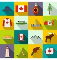 Canada icons flat vector image vector image
