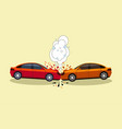 car accident scene isolated crash on road concept vector image