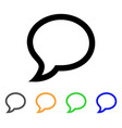 chat message stroke icon vector image