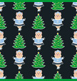 christmas seamless pattern7 vector image vector image