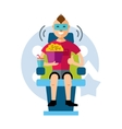 Cinema spectator Flat style colorful vector image vector image