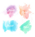 collection blots hand painted with watercolor vector image