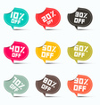 Colorful Paper Discount Labels Set vector image vector image