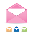 coloured open envelope set vector image vector image