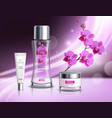 cosmetics products realistic composition poster vector image vector image