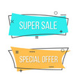 creative of promotion ribbon vector image vector image