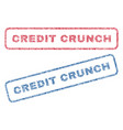 credit crunch textile stamps vector image vector image