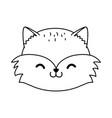 cute raccoon woodland character vector image vector image