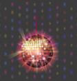 disco ball discotheque music party night club vector image vector image