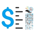 Dollar Value Icon With 2017 Year Bonus Symbols vector image vector image