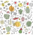 doodles seamless pattern mexico with imitation vector image vector image