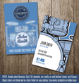 Drums Instructor Business Card vector image vector image