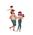 Father mother daughter and son happy family vector image