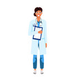 female doctor flat character vector image vector image