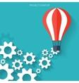Flat air balloon web icon Web application icons vector image