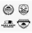 food 2 logo badge silhouettes vector image vector image