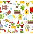 Garden tools seamless background vector image