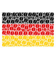german flag pattern of coffee bean icons vector image vector image