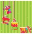 gift boxes greeting card vector image vector image