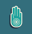 green symbol jainism or jain dharma icon vector image vector image