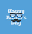 happy fathers day blue greeting background vector image vector image