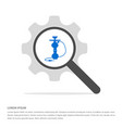 hookah icon search glass with gear symbol icon vector image