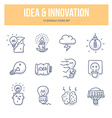 Idea Innovation Doodle Icons vector image