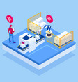 isometric iot smart industry 40 with development vector image vector image
