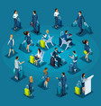 isometric large set passengers for vector image vector image
