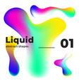 liquid colorful shapes multicolor ink vector image vector image