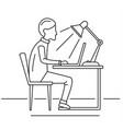 man freelancer notebook concept background vector image